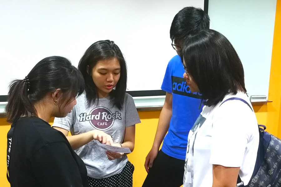 Team A Planning their trip @ TMC Orientation March 2018