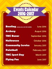 Student Club Events Calendar