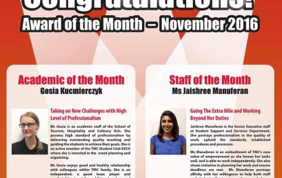 Award of the month – November 2016