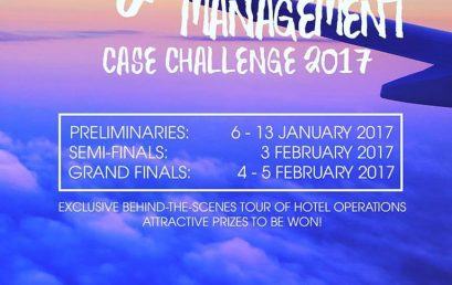 Tourism and Hospitality Management Case Challenge (THMCC) 2017