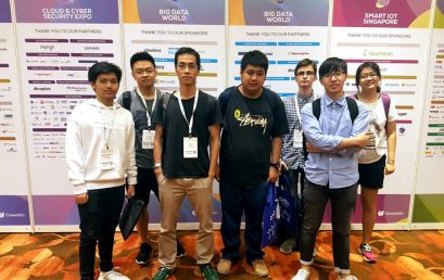 Computing Degree Students Visit Cloud Expo Asia 2017
