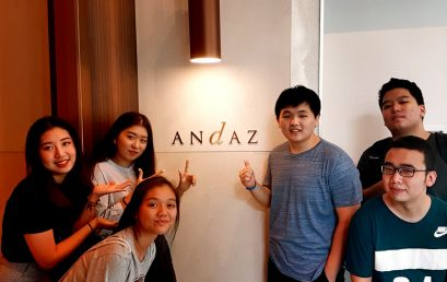 Hospitality & Tourism Students Check In to Andaz Hotel