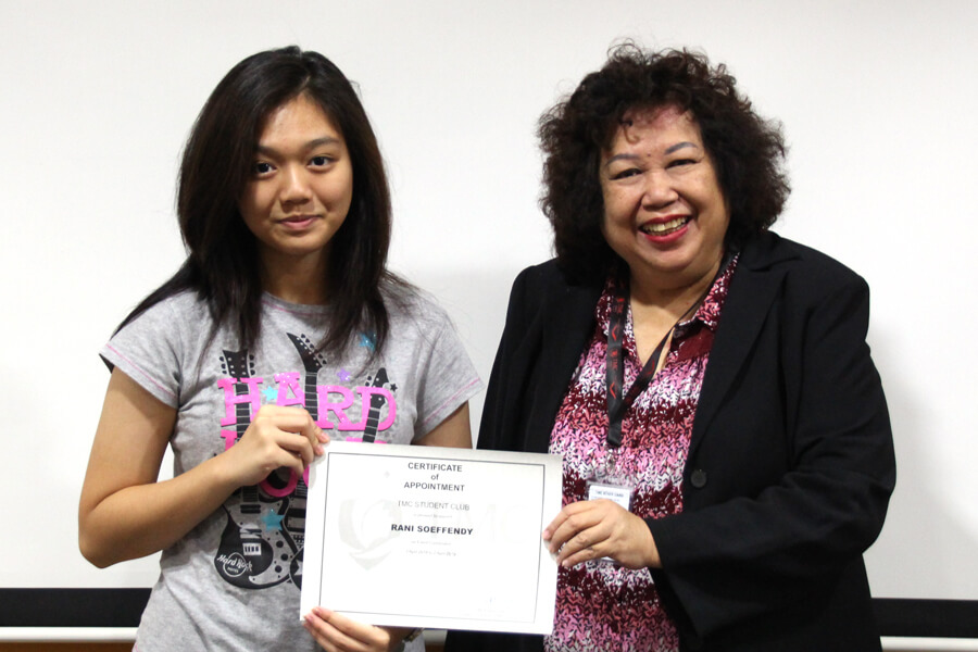 Rani @ Event Coordinator of TMC Academy Student Club
