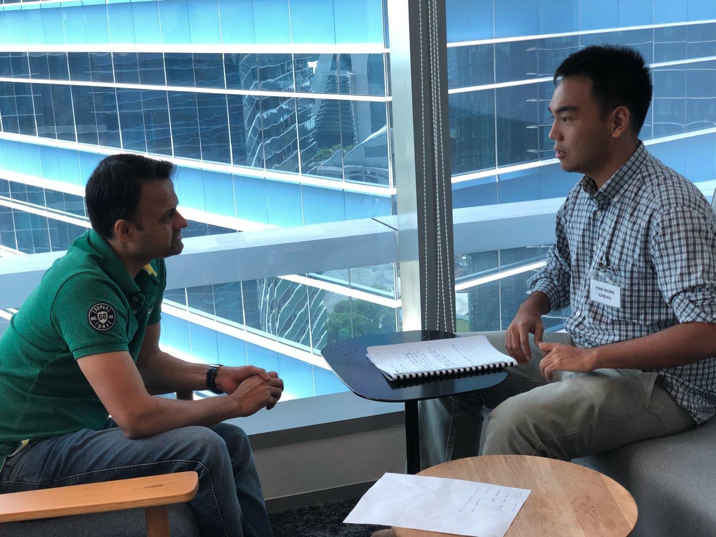 Mock Interview with Barclay @ JA Job Shadow