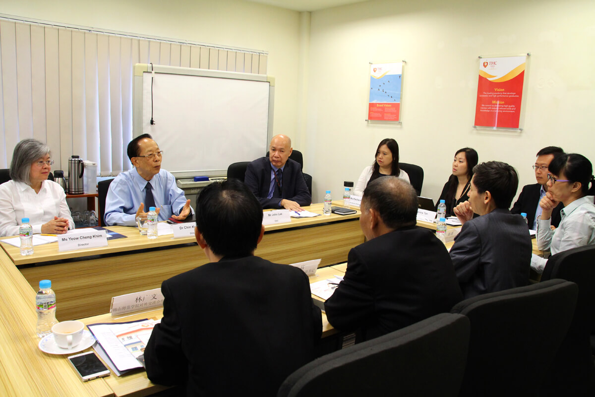 Hanshan Normal University Delegates Visit TMC