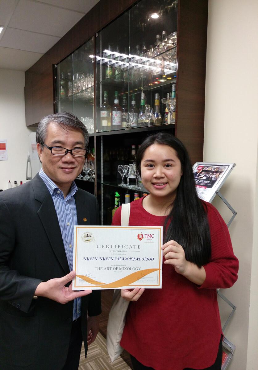 Certificate Presentation @ TMC Academy Mixology Short Course