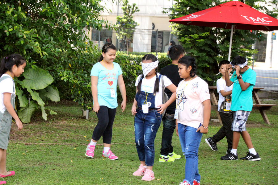 Outdoor Activity - Thai Elementary Student Holiday English Program