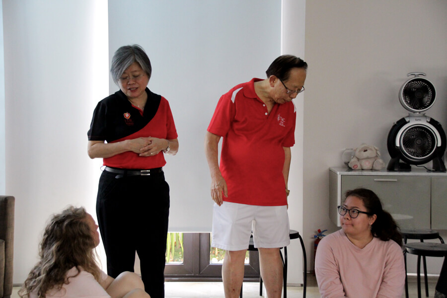 Dr Chin and Ms Yeow - June 2017 Orientation Day @ TMC Academy