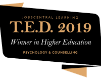 TMC Academy TED Award 2019 Badge - Winner in Higher Education - Psychology & Counselling